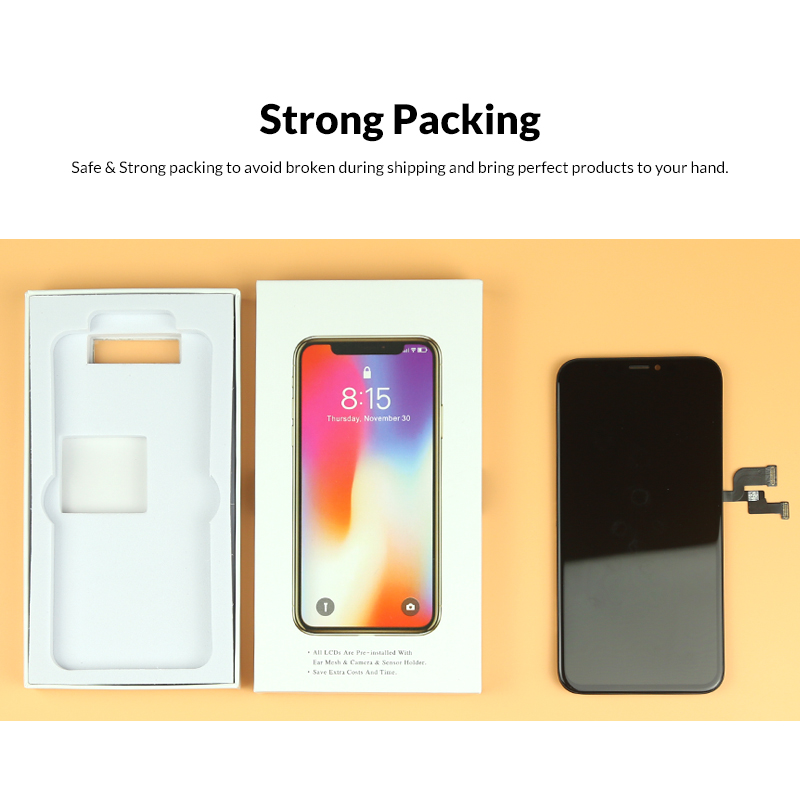 Image 5 - 3pcs For iphone X LCD For Tianma AMOLED OEM Quality NO Dead Pixel with 3D Touch Screen Assembly Replacement with Senor Ring-in Mobile Phone LCD Screens from Cellphones & Telecommunications