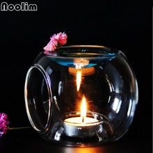 Nordic Glass Essential Oil Candle Aromatherapy Fragrance Modern Concise Aroma Burner Home Wedding Decoration(China)