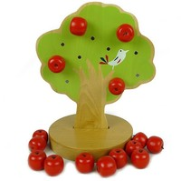 bé đồ chơi Nhật Bản Montessori giáo dục đồ chơi trẻ em bằng gỗ học tập sớm từ đồ chơi cây táo toán học đồ chơi món quà sinh nhật