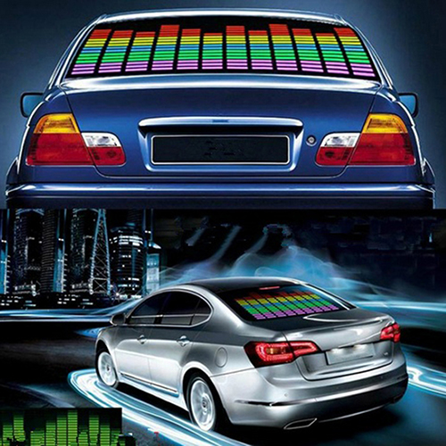 45cm Colorful Car Music Rhythm Sound Activated Equalizer LED Light Lamp Car colorful girls car stickers 2000h music rhythm led flash lamp sound activated lights 45cm 25cm
