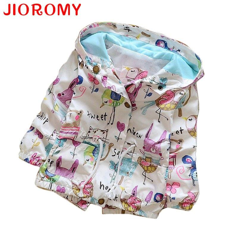 Spring 2016 New Cotton Baby Girls Coat Spend Three Flowers Lollipops Dot Jacket Cardigan Kids Children