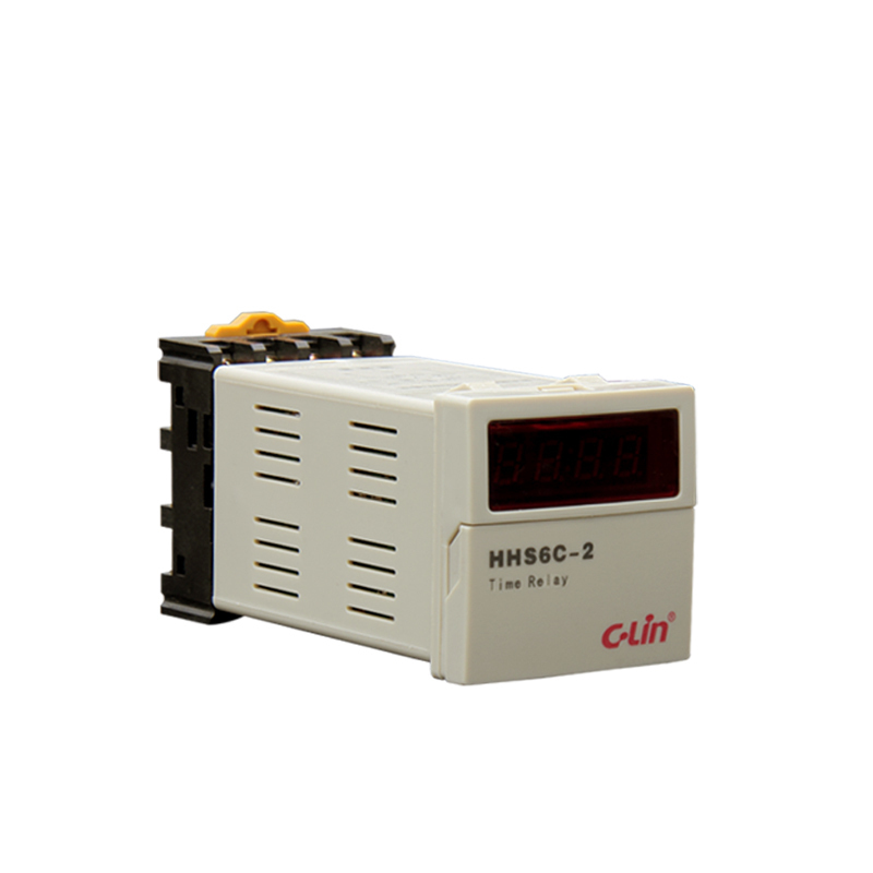 Relay HHS6C-2 Number Show Time Relay Electricity Time Delay Bring Instant Action Timer DC24V hhs6a correct time countdown intelligence number show time relay bring power failure memory ac220v