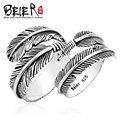 Beier nueva store100 % 925 plata esterlina anillo de la pluma para las mujeres/hombres grandes/pequeños de alta calidad de boda abierto joyería br-sr011