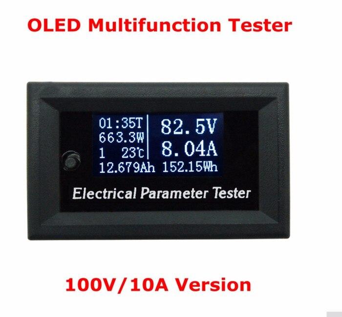 7In1 OLED DC 100V 10A Mini Digital Strom Energie Wattmeter Amperemeter Ammeter