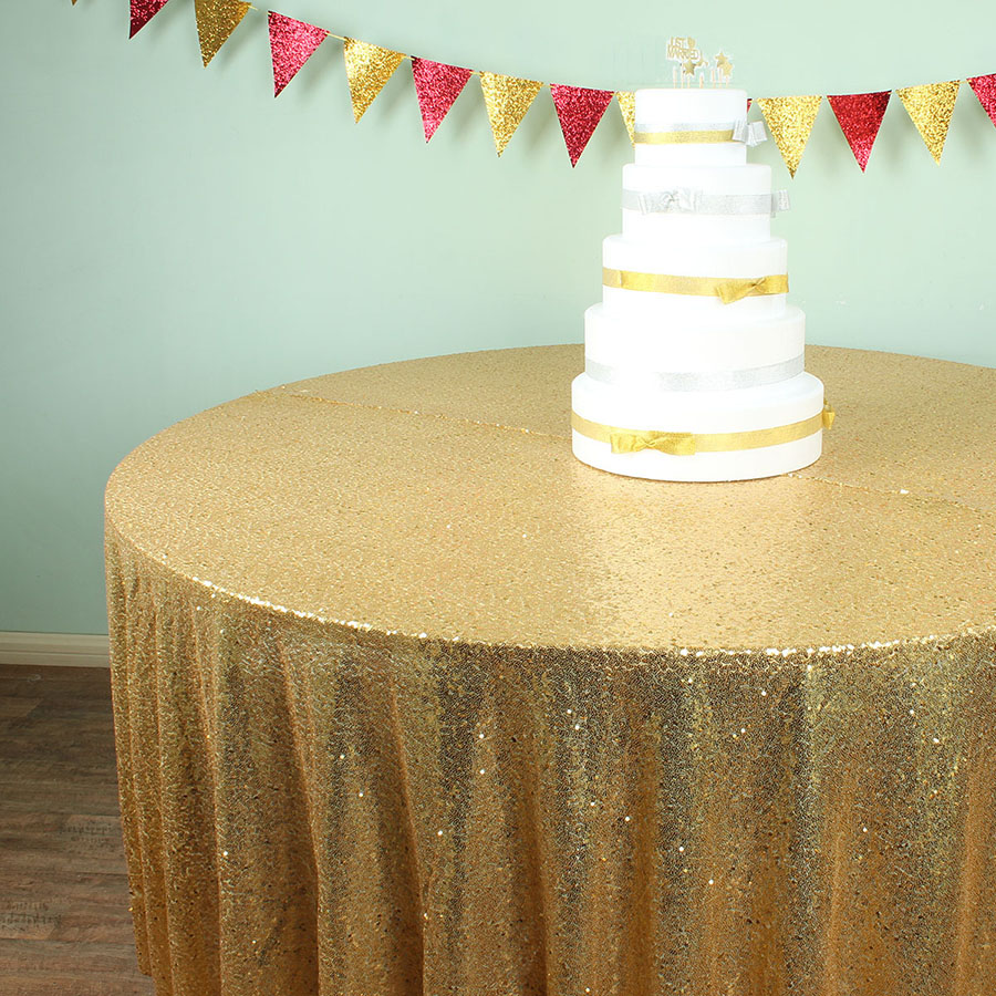 108 Inch Round Glitz Sequin Tablecloths Banquet Table