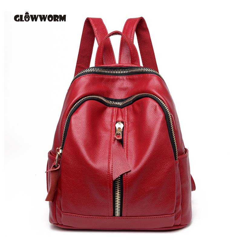 2017 New Arrival Genuine Leather Bag Women Backpacks Real Leather Backpack Preppy Style Girl School Bags