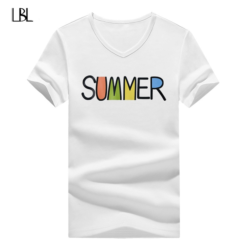 Summer Hip Hop Letter Print Short Sleeve Men High Quality Casual Tshirts Men Print T-Shirt New Brand Clothing camisetas hombre