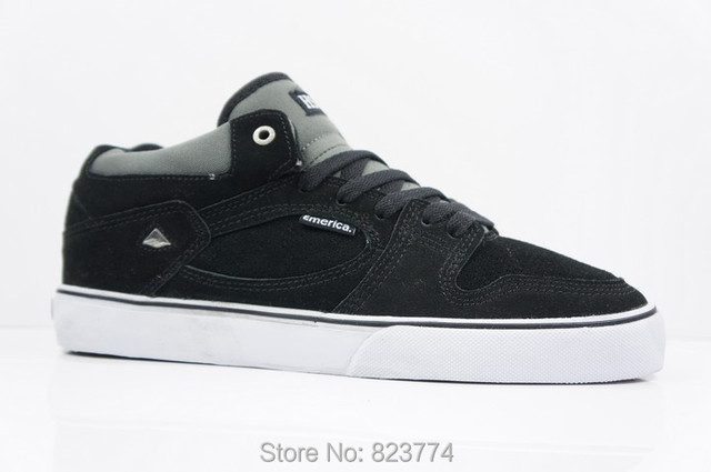 daim planche skate à la Emerica chaussures hsu en noir streetwear qTwnBS