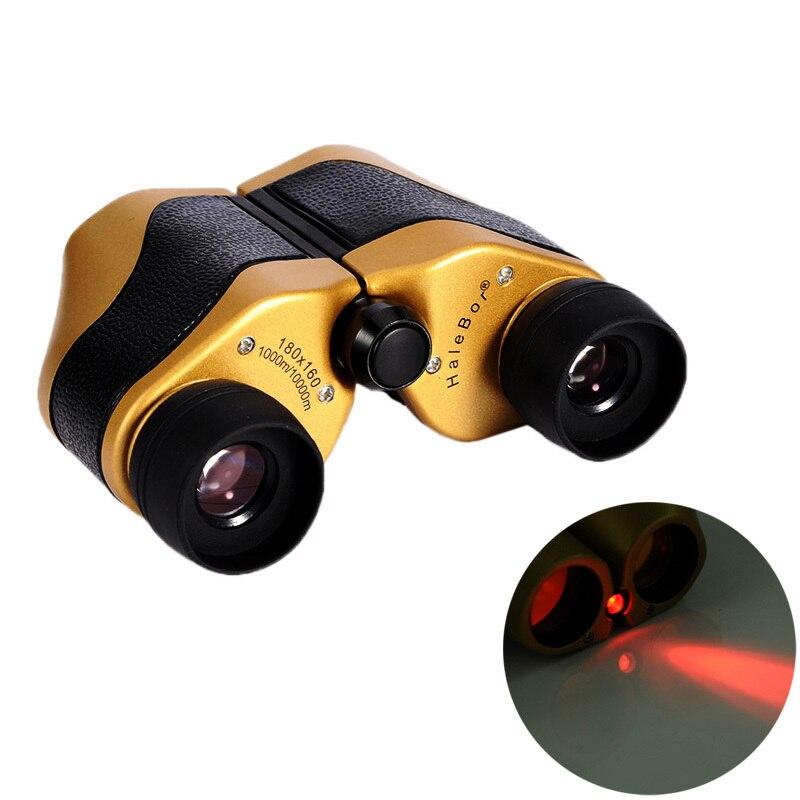 8x21 centrado LED día noche prismáticos telescopio recorrido al aire libre óptica Pesca prismáticos con bolsa
