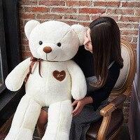 High Quality Big 100cm Plush Stuffed Teddy Bear Giant Toy Love Embrace Bears Chrildren Kids Doll Lovers Girl's Birthday gift
