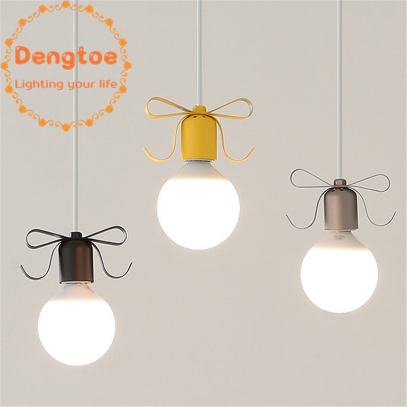 Modern Colorful pendant Light for Kid Nordic LED dining room kitchen Island Metal pendant ceiling lamp loft fixture one pendant