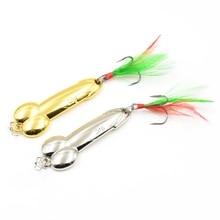1бр DD Лъжица Риболовна примамка 5g 10g 15g 20g Сребърен Златен Метал Пайети Риболовна стръв Spinnerbait Treble Hook Твърди примамки
