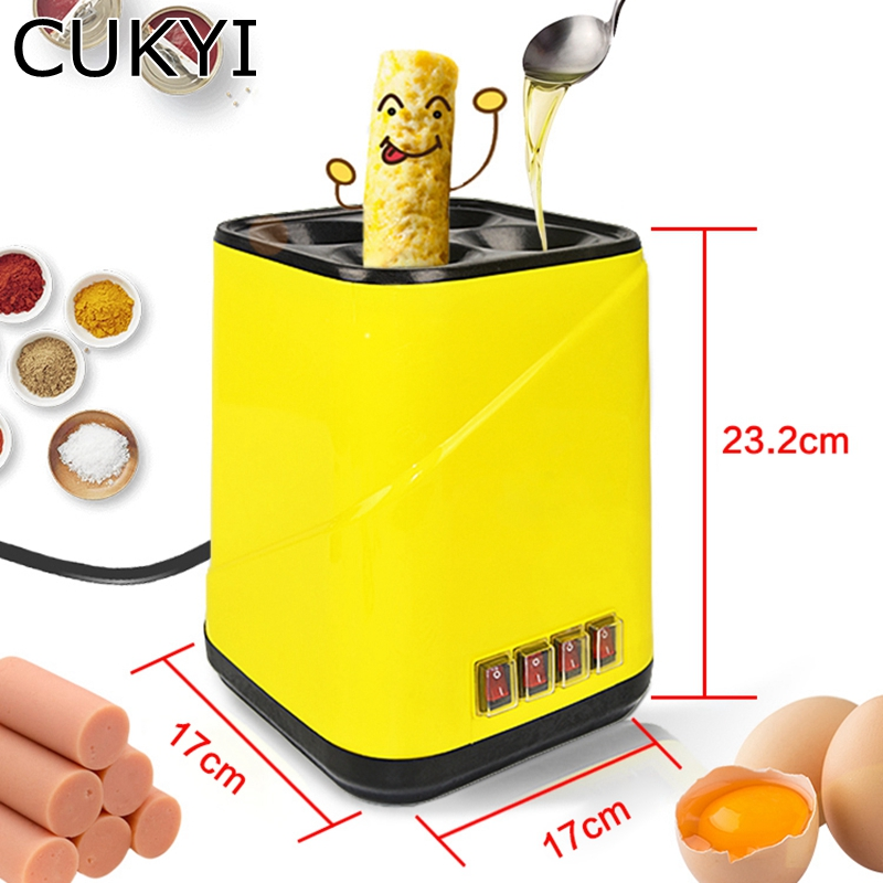 CUKYI Automatic Roll Maker electric Egg Boiler Cup Omelette Breakfast maker Non-stick Kitchen Cooking Tool 220V heat separatelyCUKYI Automatic Roll Maker electric Egg Boiler Cup Omelette Breakfast maker Non-stick Kitchen Cooking Tool 220V heat separately