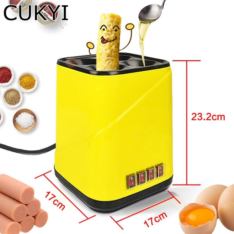 CUKYI Automatico Roll Maker Uovo elettrico Caldaia Tazza Frittata Colazione maker antiaderente Cucina Utensile da Cucina 220 V calore separatamente