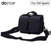 DOITOP Portable DJI Spark Storage Box Handbag Waterproof Shoulder Bag Canvas Carry Bag For Spark Drone & Accessories A3