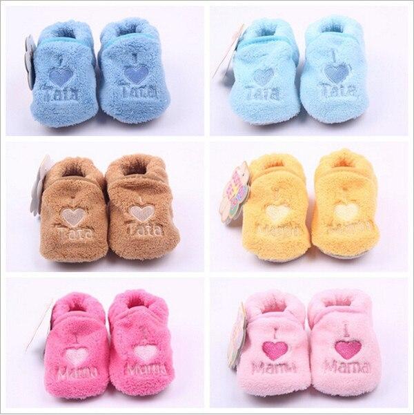 fd6101e4aec27 2015 mode belle coeur bébé chaussures première Walkers nouveau - né hiver  bébé au chaud chaussures bottes