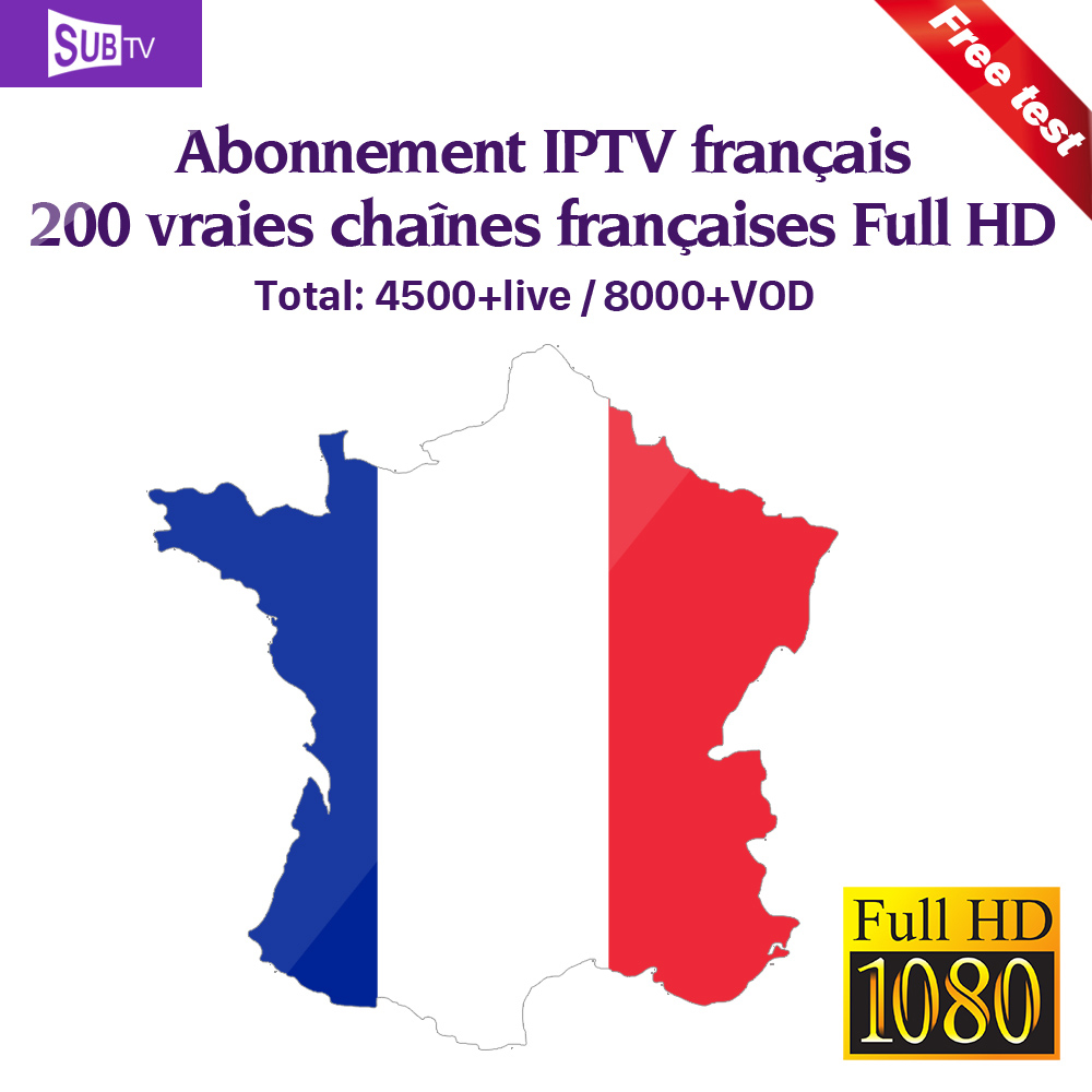 IPTV France SUBTV IPTV Subscription Arabic UK Portugal French IPTV Code  Turkey Italy Spain IP TV Support M3u Mag Free Test IP TV