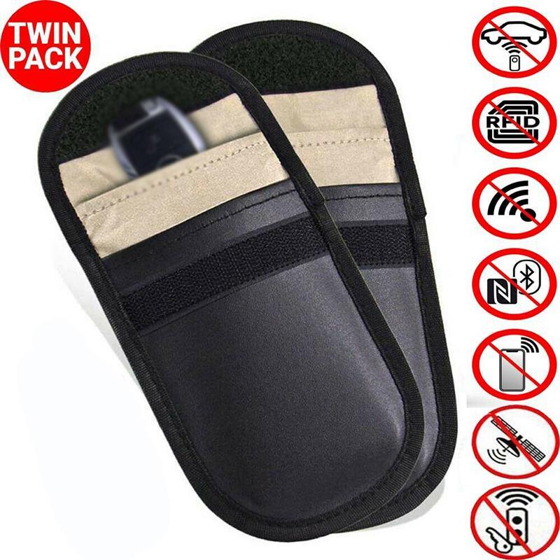 Car key signal blocker case faraday cage fob pouch keyless rfid blocking bag XS