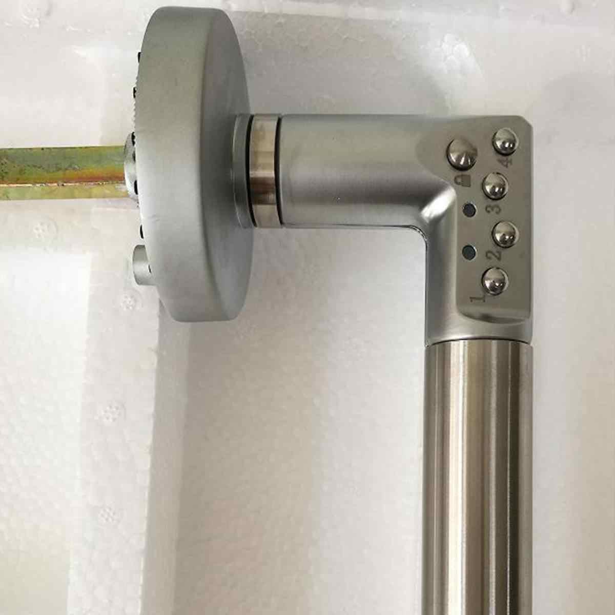 Botão Combinação Código Keyless Bloqueio Alças de aço Inoxidável Casa Segura Eletrônico Fechadura Da Porta Esquerda/Direita Poder por Baterias