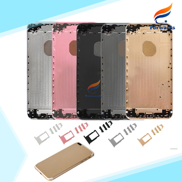 For iPhone 6 plus like 7 plus style 6s plus like 7 plus style Back Housing Metal Alloy Back Rear Cover with Button Sim Card Tray