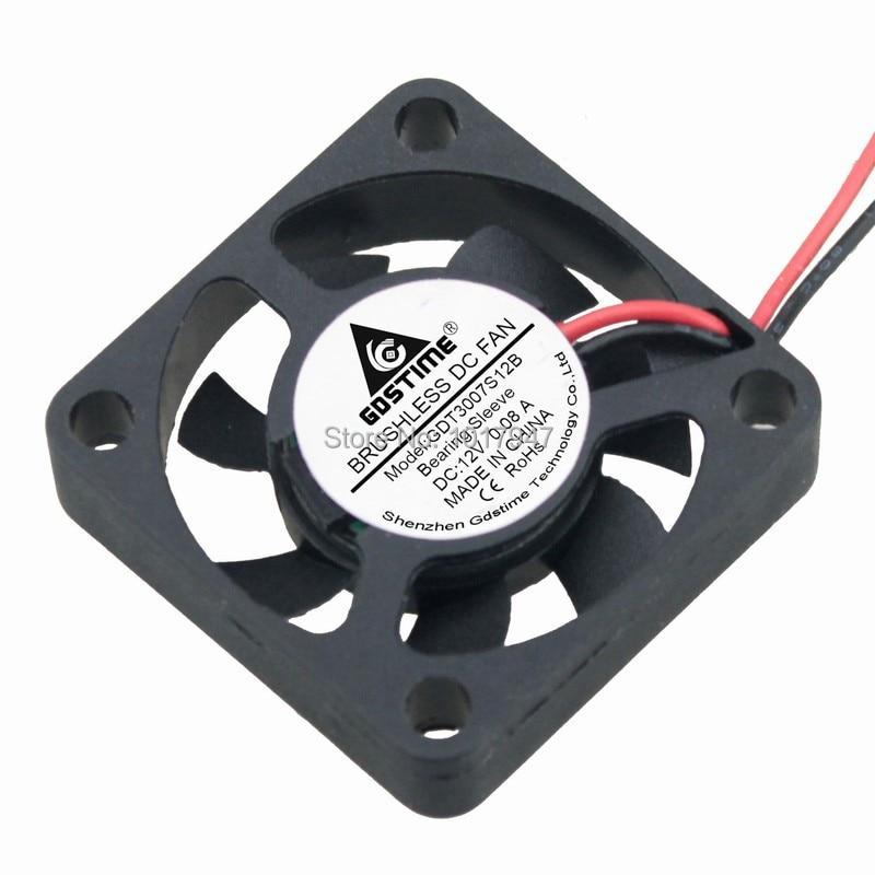 1pcs Gdstime 3007 30mm x 7mm 30mm DC 12v 2Pin Cooling Cooler Radiator Motor Fan 2pieces lot gdstime 2pin 5v dc 3007 30mm 3cm 30x30 x7mm 5v cooler cooling fan