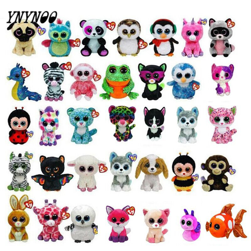 YNYNOO Beanie Boos Cute Slick Fox Plush Toys 6'' 15cm Plush Dolls Animals Big Eyes Eyed Stuffed Animal Soft Toys for Kids Gifts напольная акустика dali zensor 7 black ash