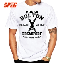 Vintage Tee Shirts Game of Thrones House Bolton Dreadfort Our Blades are Sharp T Mens O-Neck Short Sleeve White T-Shirt
