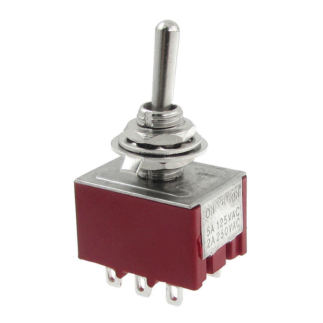 цена на MYLB-AC 250V 2A 125V 5A ON/ON 2 Position 3PDT Toggle Switch