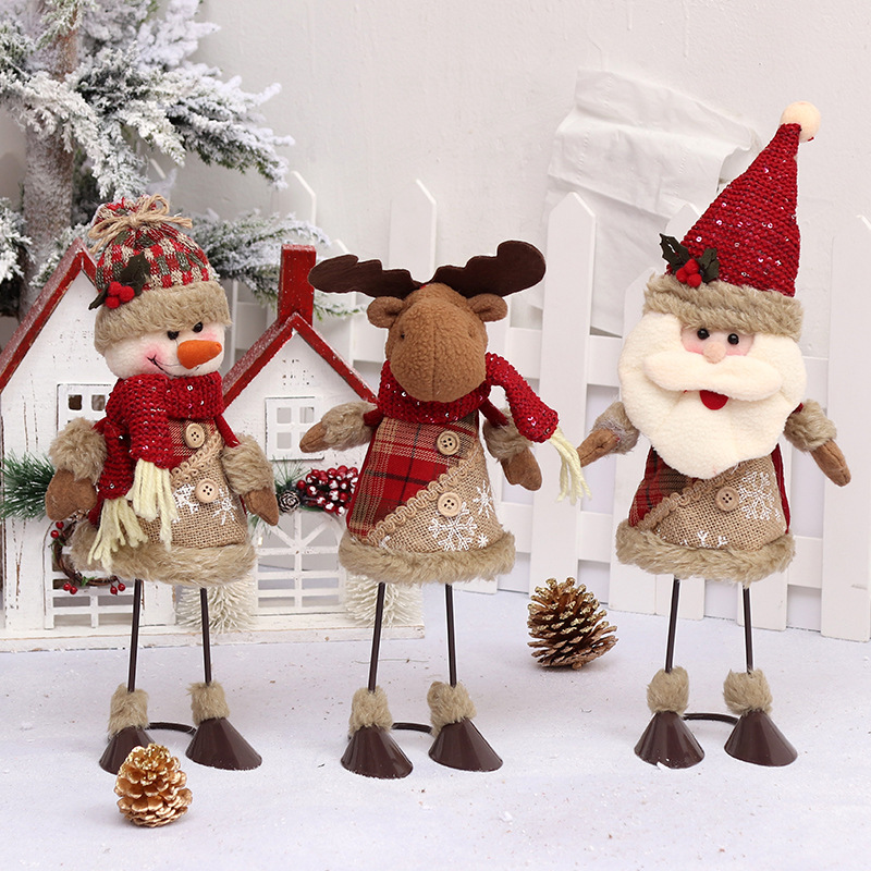 christmas decorations standing shoes snowmen old people dolls creative dolls shopping malls bars holiday gifts props in pendant drop ornaments