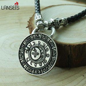 Ожерелье талисман Руна, подвеска в стиле ретро викинга с фазой старой Луны, амулет, 1 шт.