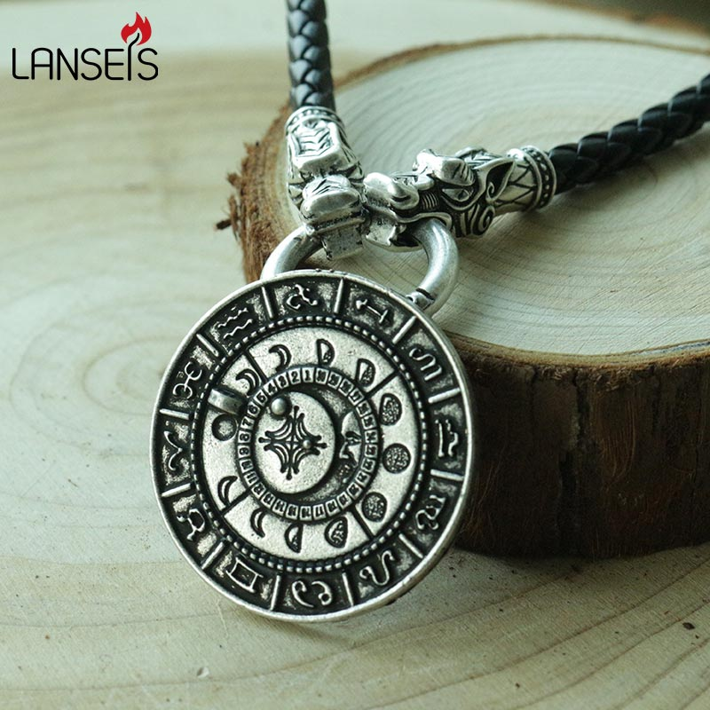Aliexpress Com Buy 2 In 1 Constellations Pendant Amulet: Aliexpress.com : Buy 1pcs Viking Retro The Old Moon Phase