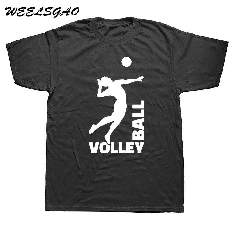 WEELSGAO Cotton Men Print T-Shirt Evolution T-Shirt Volleyballer Ball Player Casual Wear Tee Shirt