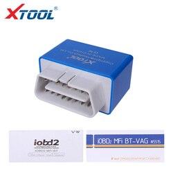 XTOOL czytniki kodów IOBD2 narzędzie diagnostyczne bluetooth Reset oleju odczyt przebiegu Test czujnika tlenu EOBD repair tool dla VW bezpłatna aktualizacja