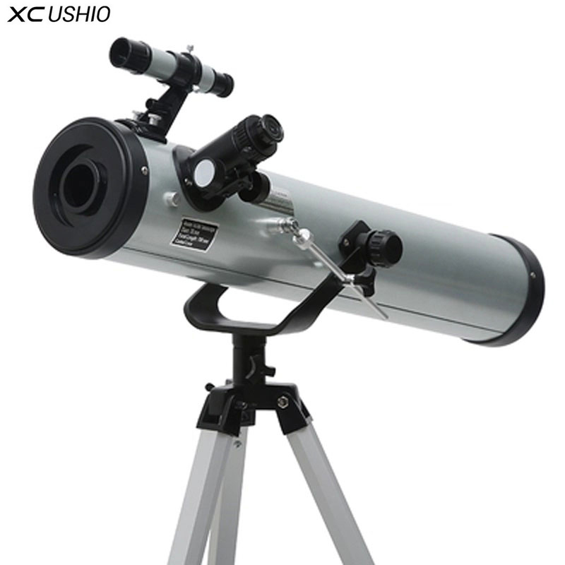 F76700 Quality Large Aperture Reflective Astronomical Telescope 350 Times With Tripod Outdoor Monocular Zooming Telescope ScopeF76700 Quality Large Aperture Reflective Astronomical Telescope 350 Times With Tripod Outdoor Monocular Zooming Telescope Scope
