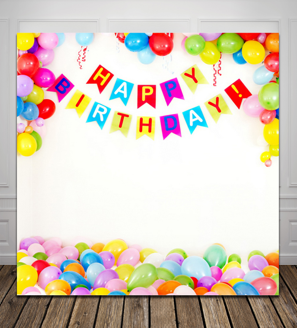 HUAYI Balloons Happy Birthday Computer Printed Photography