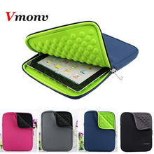 Vmonv EVA Liner Foam Zipper Laptop Liner Sleeve Bag For IPAD 2 3 4 5 6 IPAD Mini Tablet Case Cover For Samsung 8 10 Inch Case(China)