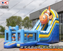 Hot Sale Inflatable Slip Castle Bouncer With Slide Trampoline