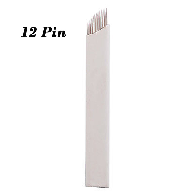 500pcs Needle Microblading 12 Pin Blade Eyebrows Tattoo Needles For Permanent Makeup Eyebrow Embroidery