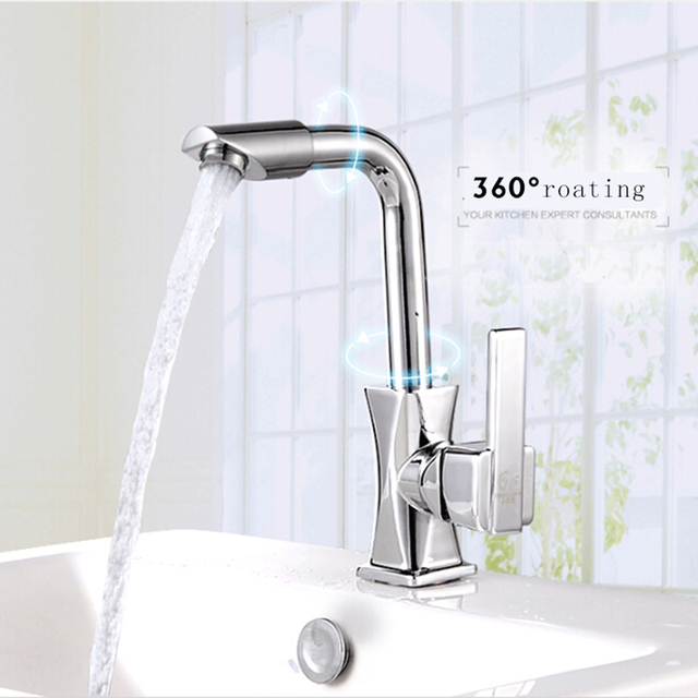 2 Sets Swivel Spring Kitchen Faucet Single Hole Water Tap Solid Brass Mixer  Cold And Hot