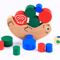 Snail balance toy building blocks Wooden Children toys Training balancing buttressed music Montessori educational free shipping