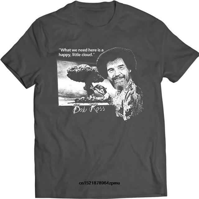 98ada48e5 Men T shirt Bob Ross Funny Quote Happy Little Fact Casual Cotton T Shirt  funny t-shirt novelty tshirt women