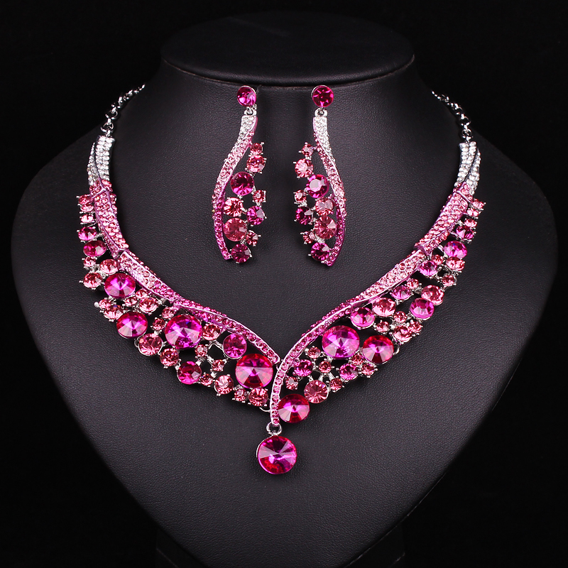 Indian christmas decorations reviews online shopping for Pink wedding jewelry sets