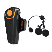 BOBLOV BT-S2 1000m Waterproof Motorcycle Interphone Bluetooth Helmet Intercom Handsfree BT Motorbike Headset FM MP3 US Plug