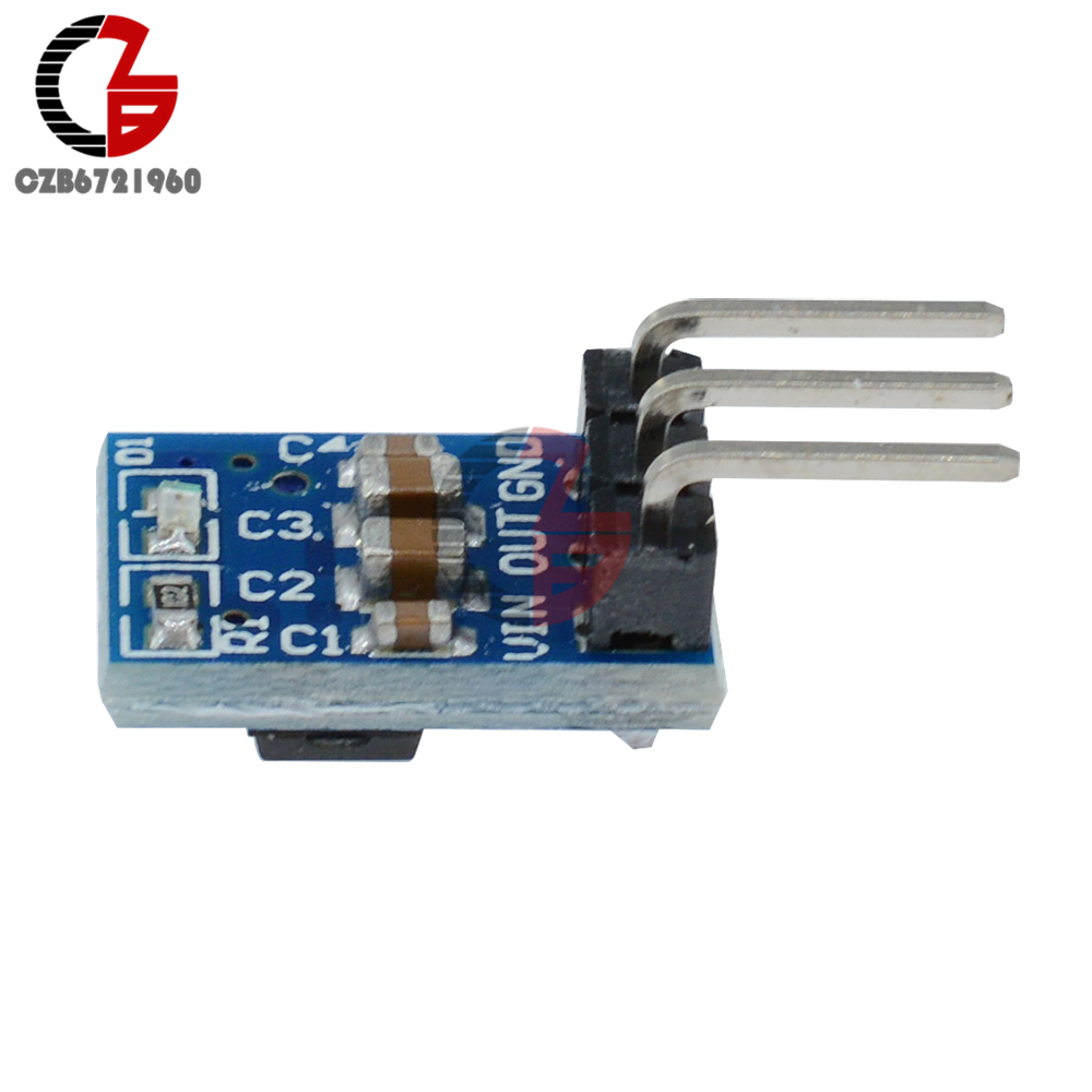 5PCS DC 4.2 V-10V 5V to 3.3V 800mA Step-down Power Buck Step Down Converter Power Supply Module AMS1117 3.3 LDO 800MA ams1117 3 3v power supply ic buck ic linear regulator sot 223 black 10pcs