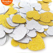 15g 3cm Glitter Love Heart Shape Paper Confetti  Baby Shower Decorations Birthday Girl Party Happy Wedding Favors