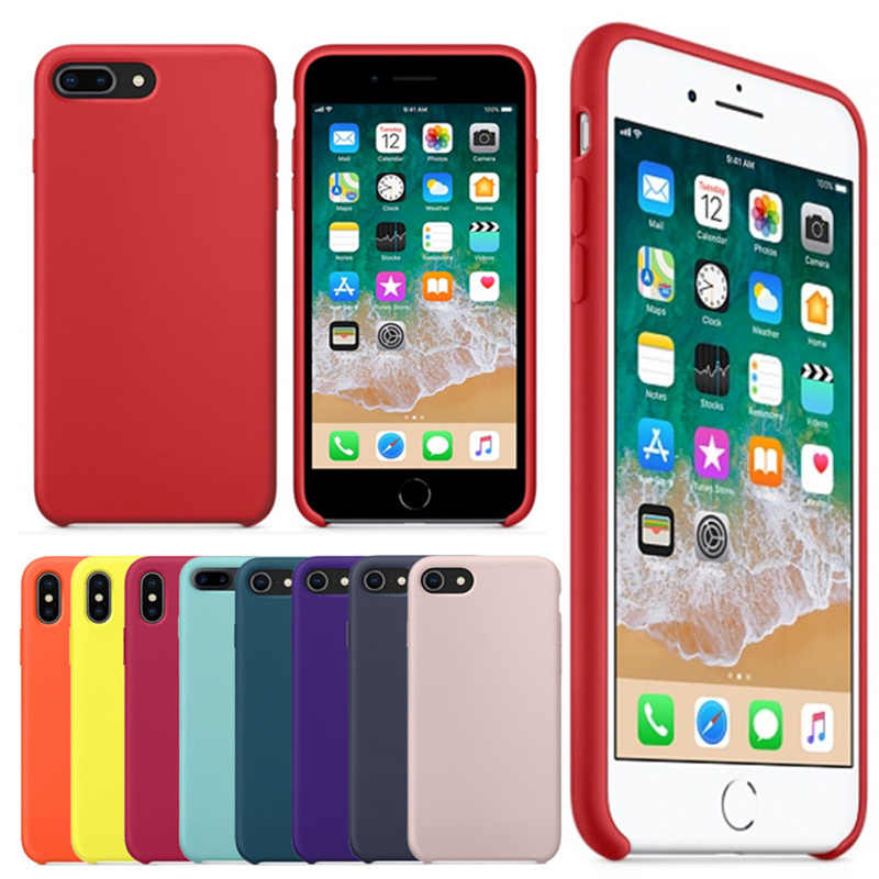 44eb003717 Detail Feedback Questions about Original 1:1 Have Logo Official Silicone  Case for Apple IPhone X 6 S 6S 7 8 Plus Coque Phone Case for Iphonex IPhone7  Back ...