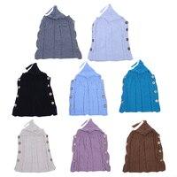 Envelop Sleep Bags For Baby Swaddle Wrap Warm Wool Crochet Knitted Kids Baby Sleeping Bag