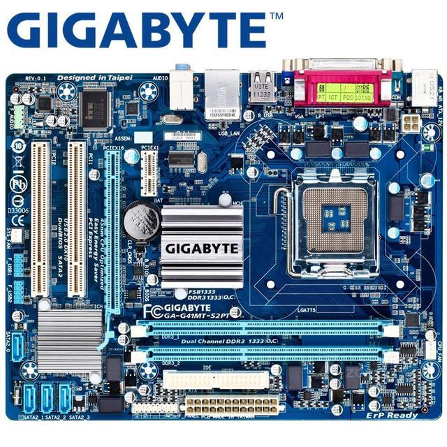 GIGABYTE GA-G41MT-S2PT Desktop Motherboard G41 Soquete LGA 775 Para O Núcleo 2 DDR3 8g Micro ATX Mainboard Original Usado G41MT-S2PT