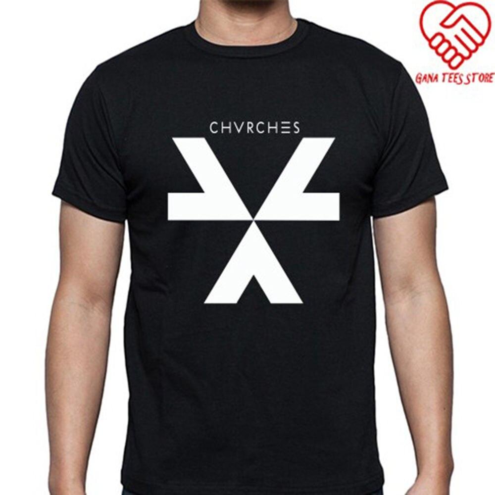 CHVRCHES Logo Electronic Rock Band Mens Black T-Shirt Size S-3XL