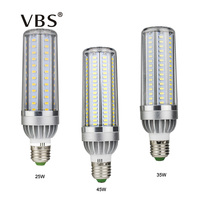 VBS Led Bulb 25W 35W 45W High Power Corn Light 85 265V E27 Leds Lamp 5730 SMD Corn Bulb Lampada Aluminum Fan Radiator Lighting